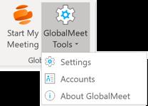 Outlook Settings Menu